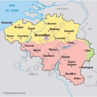 Carte Belgique Dinant Environs.Guide Du Routard Belgique 2018