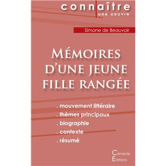 fiche de lecture m moires d une jeune fille rang e analyse litt raire de r f rence et r sum. Black Bedroom Furniture Sets. Home Design Ideas