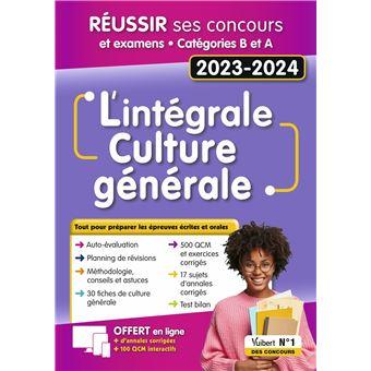 440a5d02538 L intégrale de culture générale Fonction publique Catégories A et B Concours  2019-2020