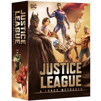 Justice leagueCOFFRET JUSTICE LEAGUE 5 FILMS-FR
