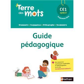 Terre des mots ce1 guide pedagogique