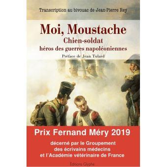 Moi moustache chien-soldat heros des guerres napoleoniennes