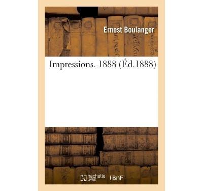 Impressions. 1888