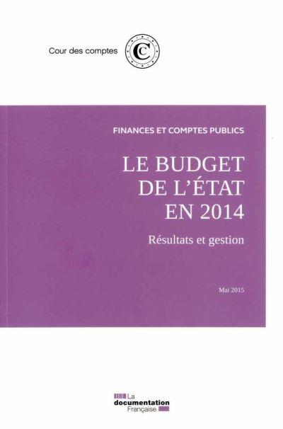 Le budget de l'Etat en 2014 - Mai 2015