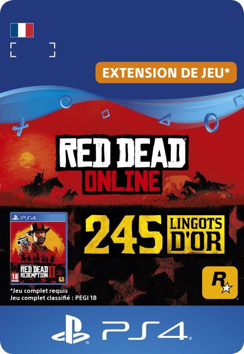 Code de téléchargement Red Dead Online 245 Lingots d?Or PS4