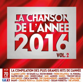 Chanson de l annee 2016 vol 2/4 cd/multipack
