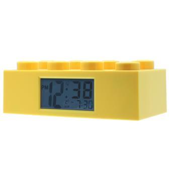 Réveil brique jaune Lego