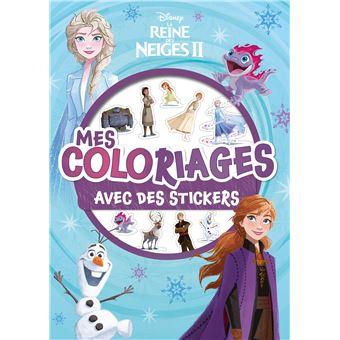 La Reine des neigesMes coloriages avec stickers
