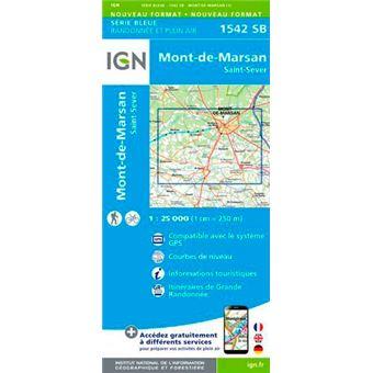 Mont-de-marsan st-sever 1:25 000