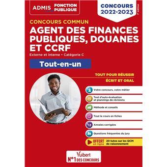 Concours commun Agent des finances publiques, douanes et CCRF Tout-en-un Catégorie C