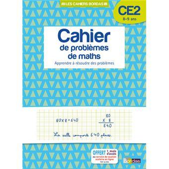 Cahier de problemes maths ce2