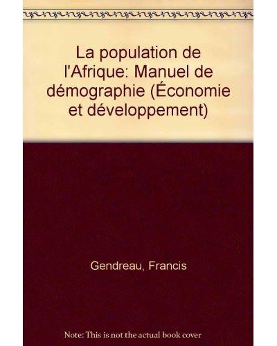 Population de l'afrique manuel de demographie