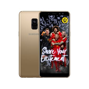 Samsung Galaxy A8 Goud + Red Devils Back Cover