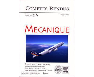 Comptes rendus academie des sciences mecanique tome 332 fasc