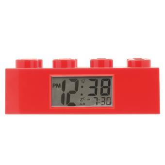 LEGO ALARM BRICK CLOCK RED