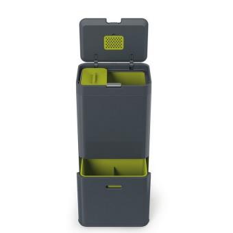 poubelle tri s lectif joseph joseph totem 60 l gris anthracite achat prix fnac. Black Bedroom Furniture Sets. Home Design Ideas