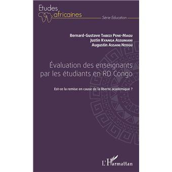 Evaluation des enseignants par les etudiants en r.d.congo