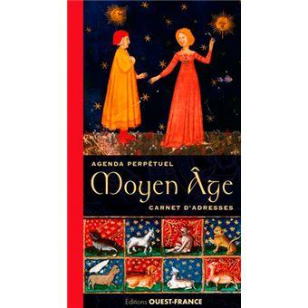 Agenda perpetuel et carnet d'adresses moyen age