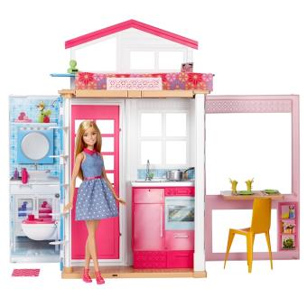 playset barbie et sa maison maison de poup e achat prix fnac. Black Bedroom Furniture Sets. Home Design Ideas