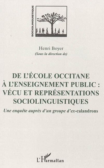 De l'école occitane à l'enseignement public