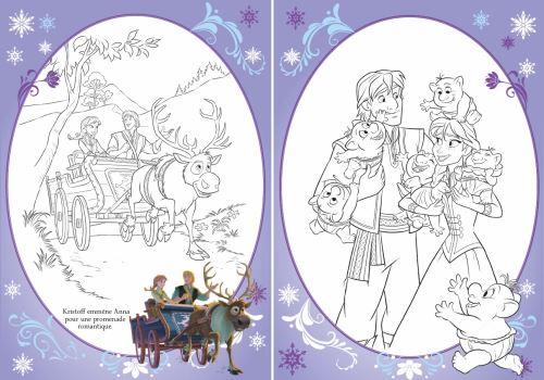 La Reine Des Neiges Coloriage Avec Stickers Disney La Reine