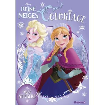 Coloriage Walt Disney Reine Des Neiges.La Reine Des Neiges Coloriage Avec Stickers Disney La Reine Des