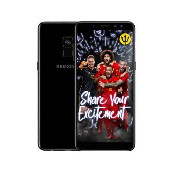 Samsung Galaxy A8 Black + Red Devils Back Cover