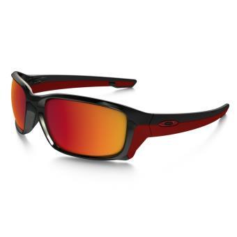 cc36702353c78a Lunettes de soleil Oakley Straightlink Polarized Noire et rouge ...