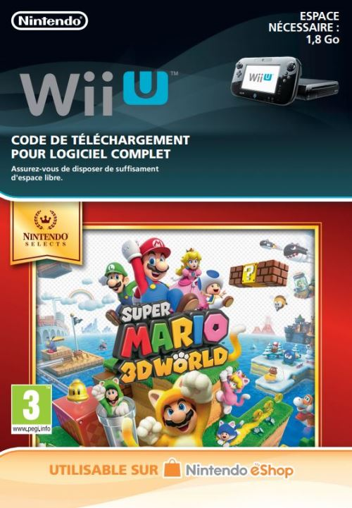 Code de téléchargement Super Mario 3D World Nintendo Wii U