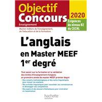 L'anglais en Master MEEF 1er degré 2020