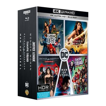 DC animatedCoffret DC Comics 5 films Blu-ray 4K Ultra HD