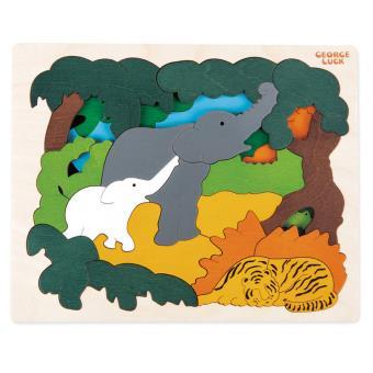 Puzzle 31 pièces Animaux d'Asie Hape