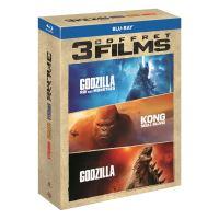 Coffret Godzilla, Godzilla 2, roi des monstres et Kong : Skull Island Blu-ray