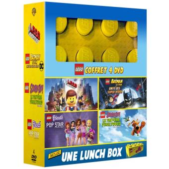 LEGOCoffret Lego et Lunch Box Brique Lego 4 films DVD