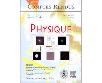 Comptes rendus academie des sciences physique tome 8 fasc 34