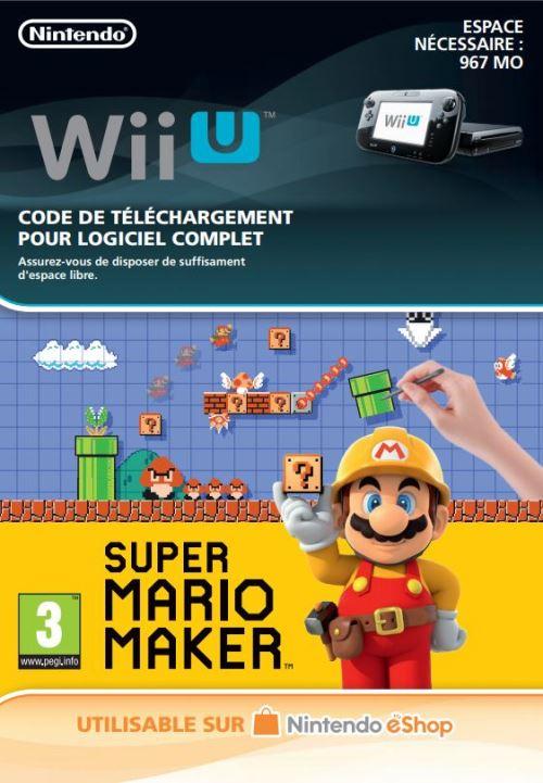 Code de téléchargement Super Mario Maker Nintendo Wii U