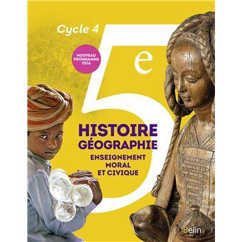 Histoire, Géographie, EMC 5ème Cyle 4