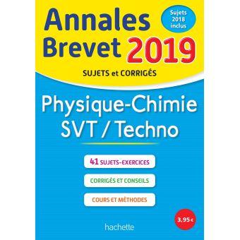 Annales Brevet 2019 Physique-Chimie-SVT