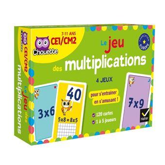 Le jeu des multiplications poche marie lise peltier for Jeu table de multiplication en ligne