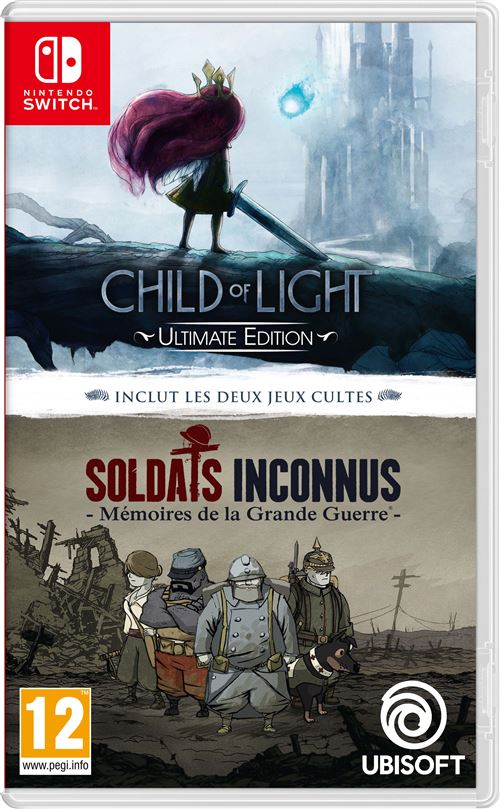 Child of Light Ultimate Edition + Soldats Inconnus Mémoires de la Grande Guerre Nintendo Switch