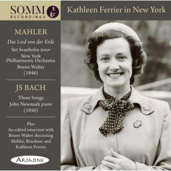 Kathleen Ferrier in New York Lied Von Der Erde 3 Songs
