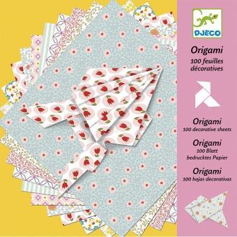 Set de 100 feuilles décoratives Origami Djeco
