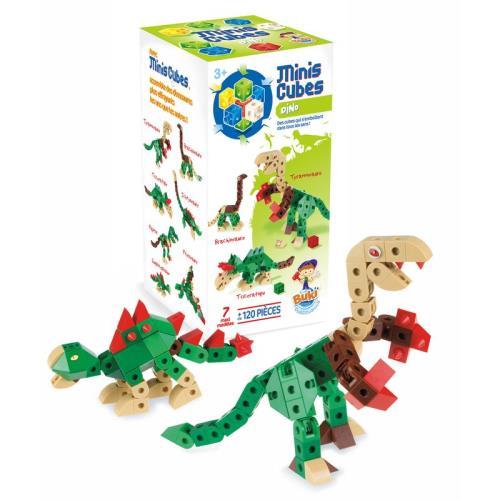 Mini Cubes Dinos Buki France 120 pièces