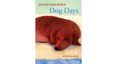 David Hockney Dog Days : Notecards