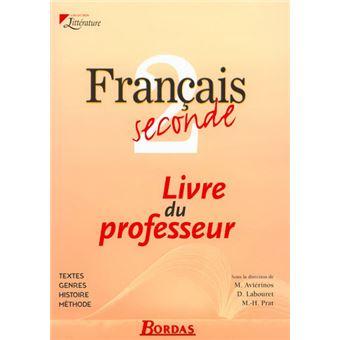 Francais Seconde Prof