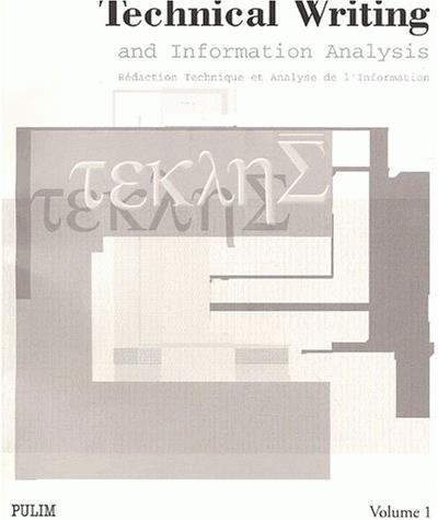 Redaction technique et analyse de l'information