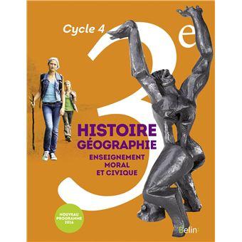 Histoire, Géographie, EMC 3ème, Cycle 4