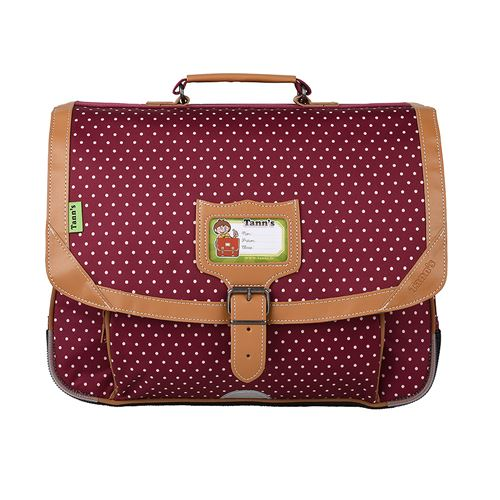 Cartable Tann's dos 38 cm Bordeaux
