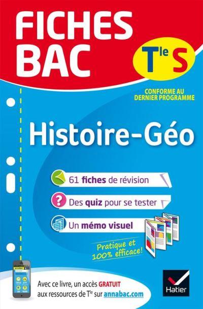 Fiches bac Histoire-Géographie Tle S - Fiches de révision Terminale L, ES - 9782401046603 - 4,49 €