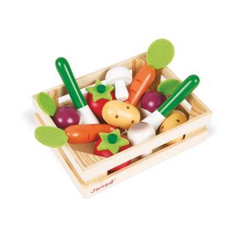 cagette de 12 légumes en bois janod - cuisine - achat & prix | fnac